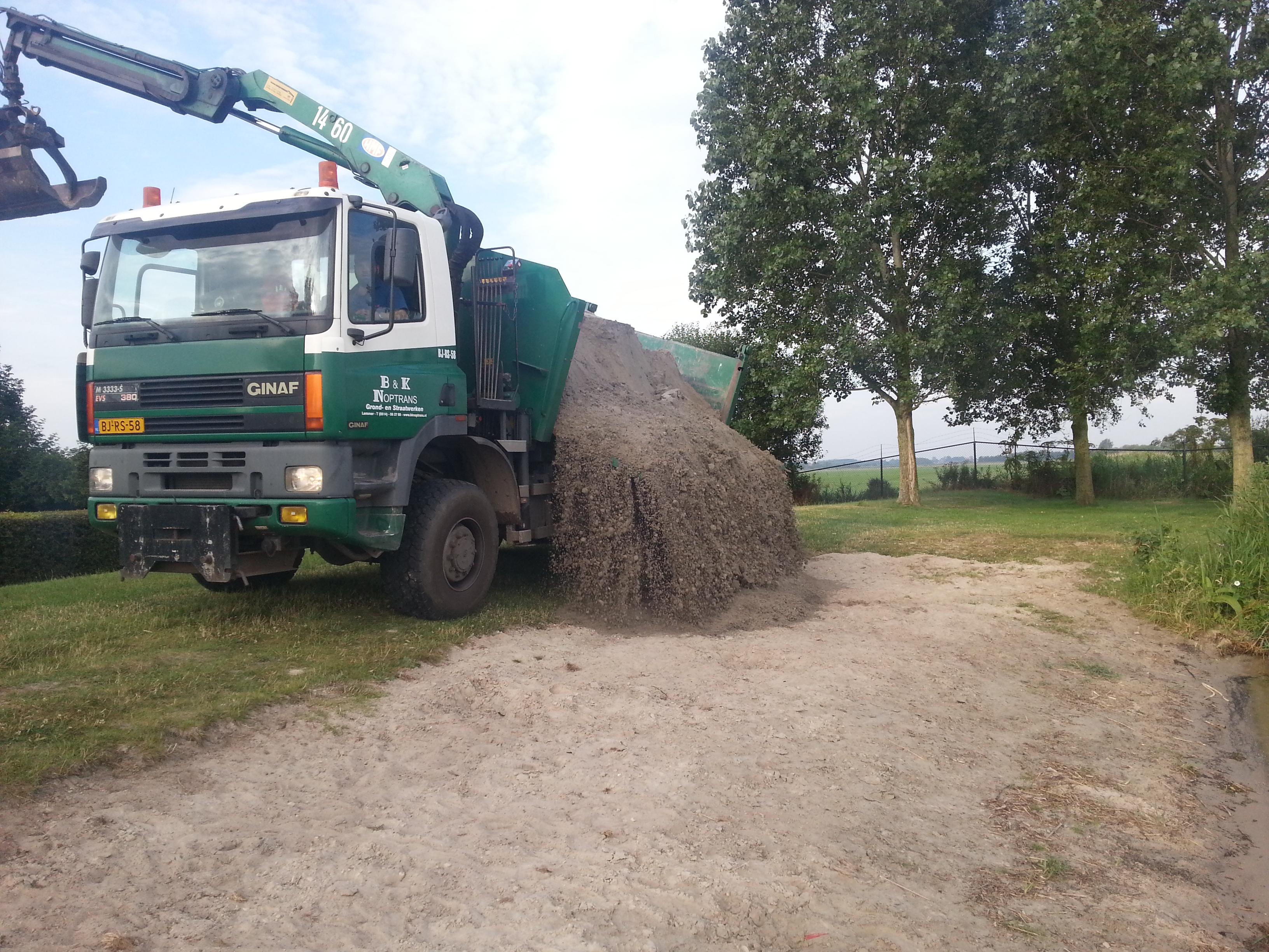 Tuin Zand Afvoeren : Zand meeleveren klantenservice opruimen